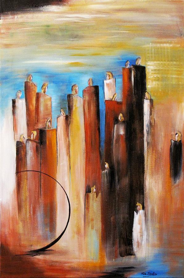 Expressionism Painting - Standing in Wind  by Rita  Ibrahim