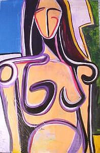 Female Painting - Standing Nude by Clayton Thomas
