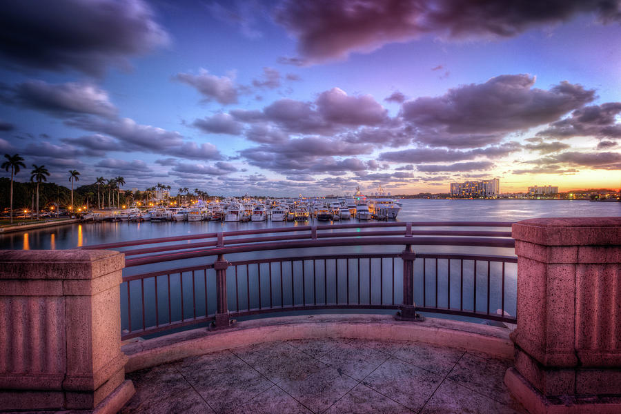 Boats Photograph - Standing On The Bridge by Debra and Dave Vanderlaan