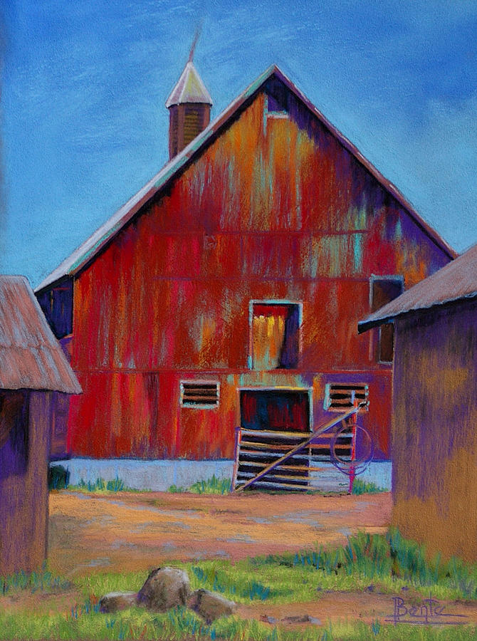 Barn Painting - Standing Proud by Bente Hansen