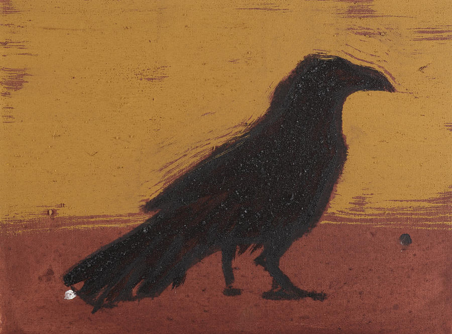 Raven Painting - Standing Raven 2 by Sophy White