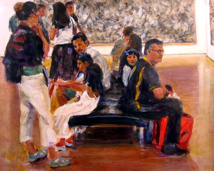 Museum Painting - Standing Room Only by Chuck Berk