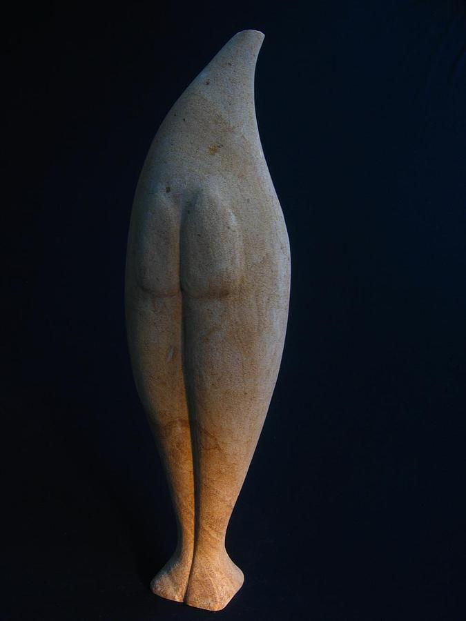 Standing Stone Torso - Reverse Sculpture by Todd Malenke