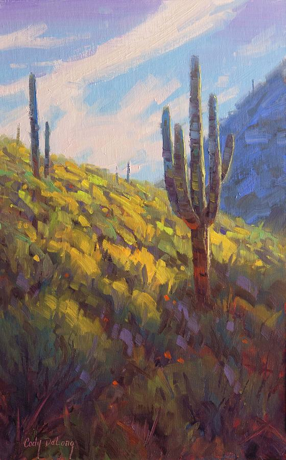 Saguaro Painting - Standing Tall by Cody DeLong