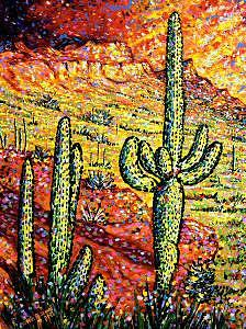 Southwest Painting - Standing Tall by Max R Scharf