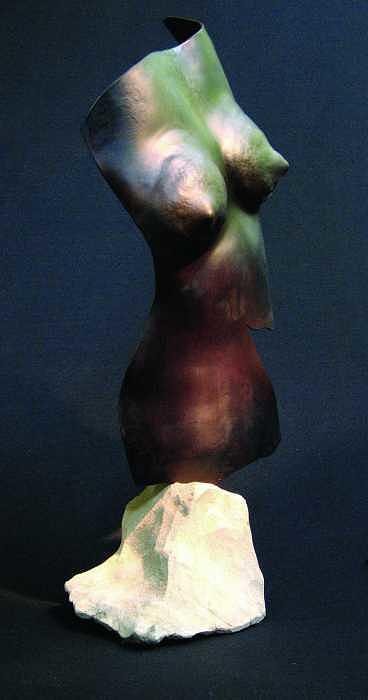 Standing Torso Sculpture by Todd Malenke