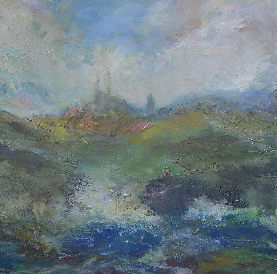 Scotland Painting - St.Andrews l by Marilyn Muller