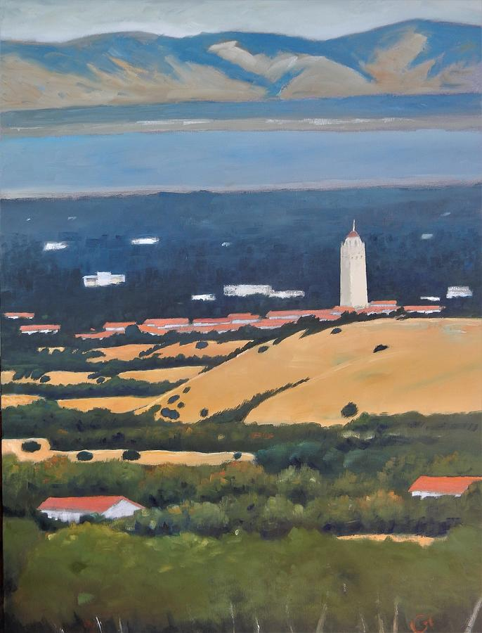 Stanford From Hills Painting