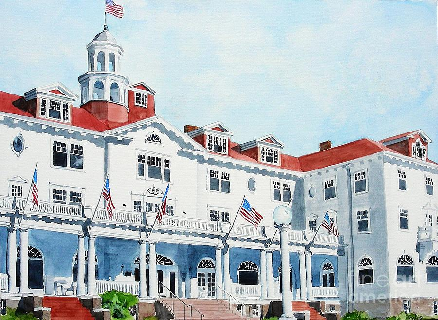 Watercolor Painting - Stanley Hotel Two by Tom Riggs