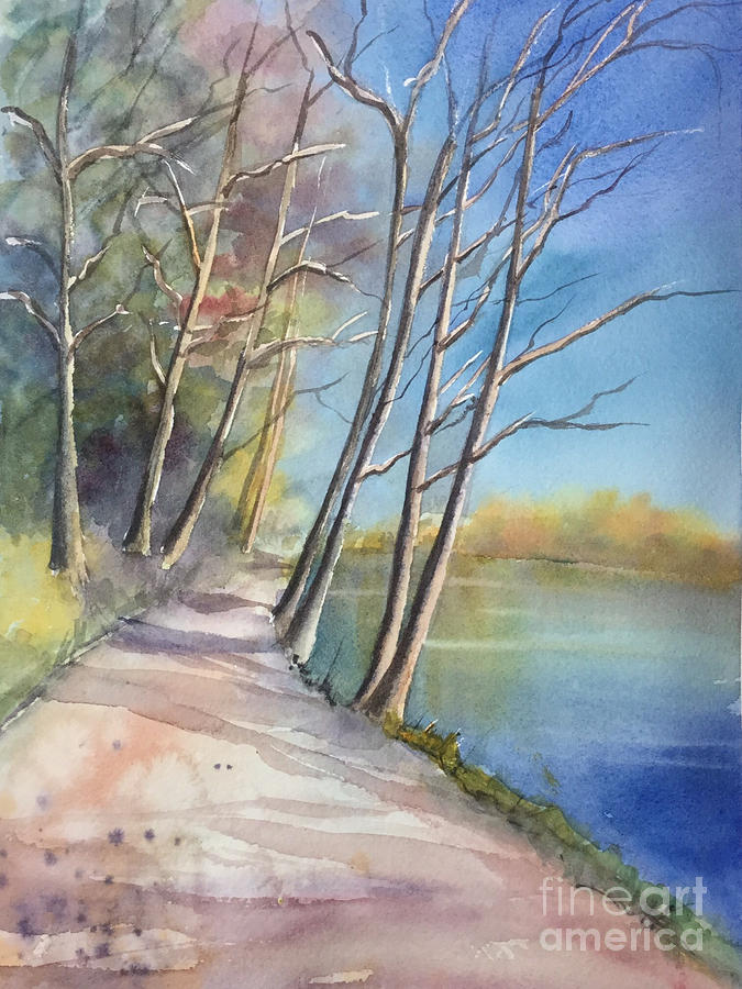 Watercolor Painting - Stanley Park by Yohana Knobloch