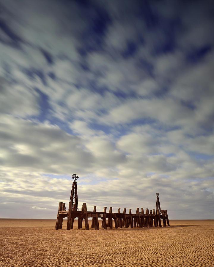 Beach Photograph - St.annes Beach, Lancashire, England by David Stanley