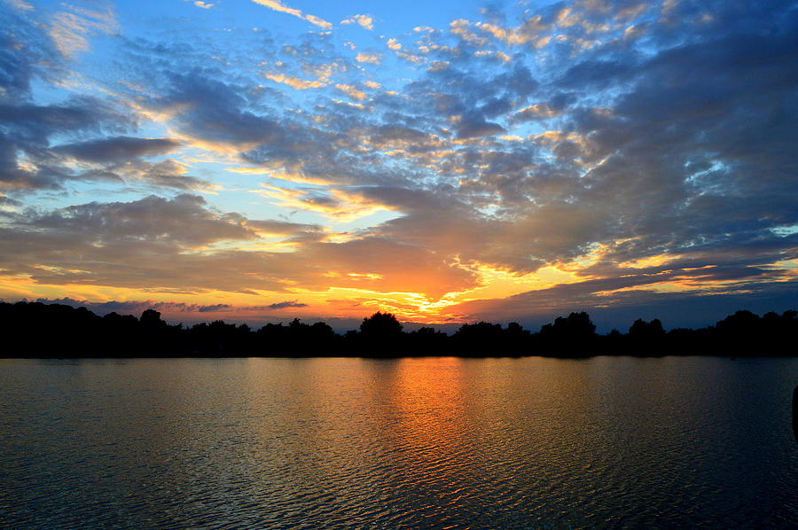 Sunset Photograph - Stanton Lakes  by Rosanna Maria