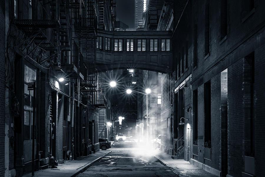 Staple street skybridge by night by Mihai Andritoiu