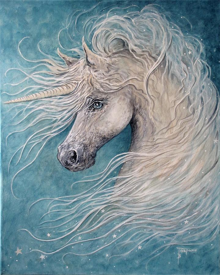 Unicorn Painting - Star by Becky Tospann