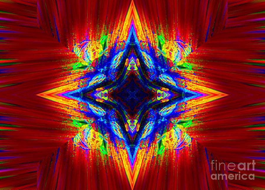 Abstract Digital Art - Alpha Centauri by Lorles Lifestyles