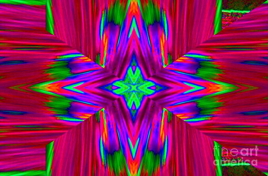 Abstract Digital Art - Star Burst by Lorles Lifestyles