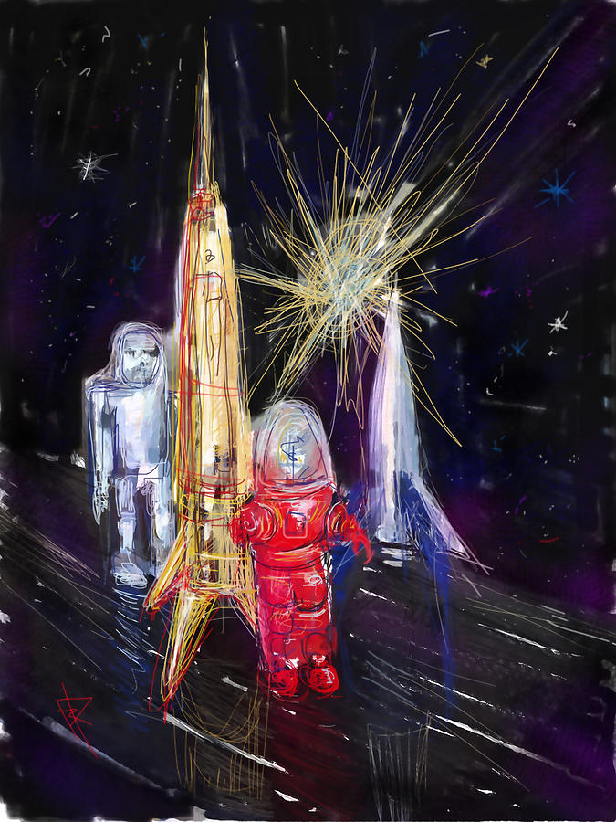 Space Digital Art - Star City by Russell Pierce
