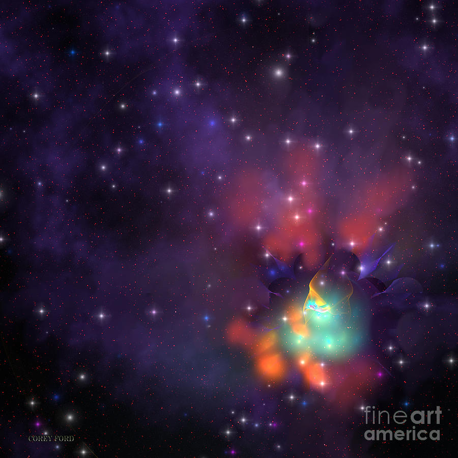 Star Cluster Painting - Star Cluster by Corey Ford