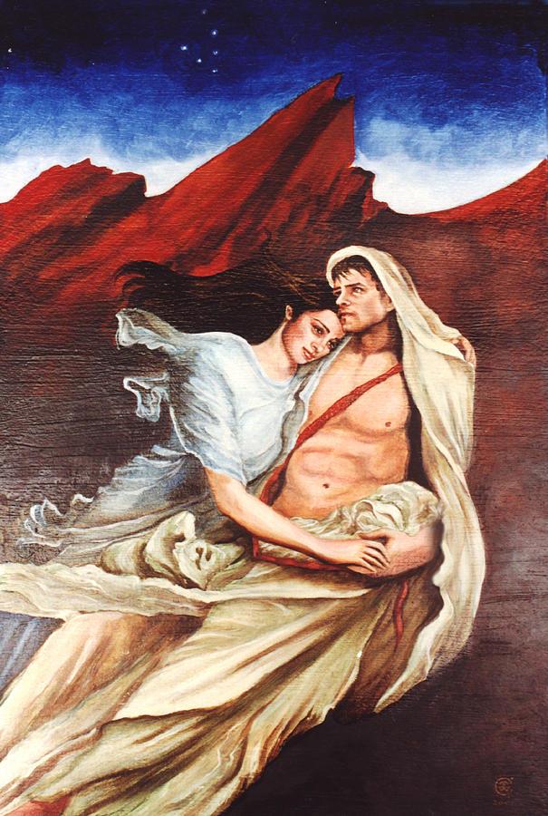 Portrait Painting - Star Crossed Lovers by Teresa Carter