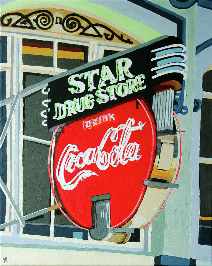 Star Drug Store Painting