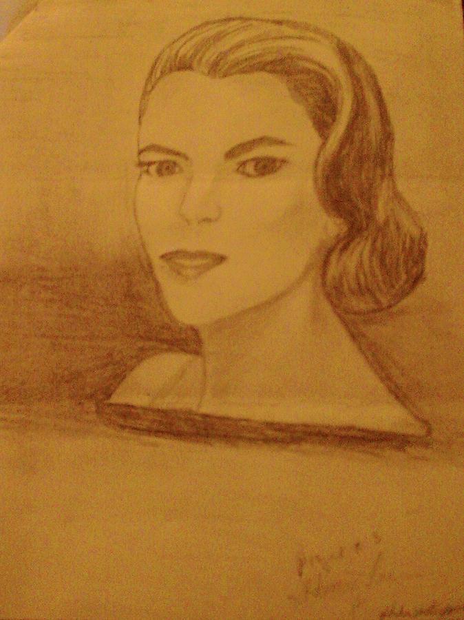 Movie Star Drawing - Star by Helen Vanterpool