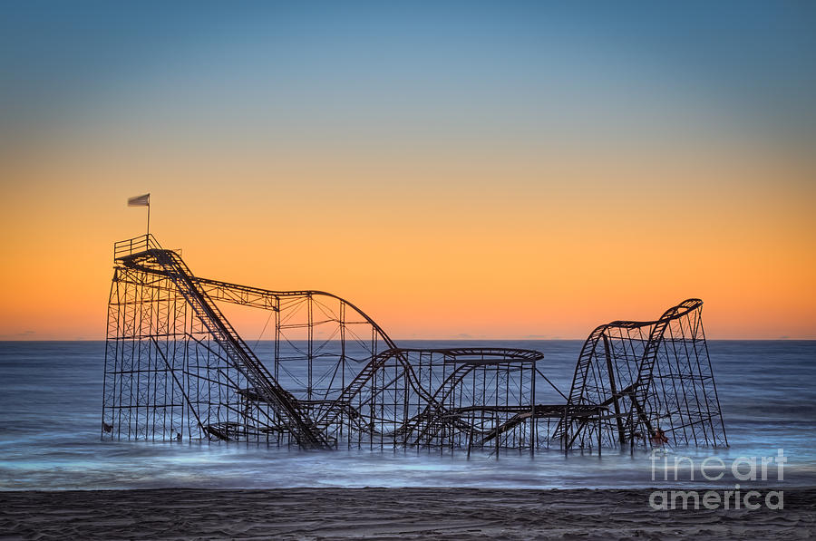 Landscape Photograph - Star Jet Roller Coaster Ride  by Michael Ver Sprill