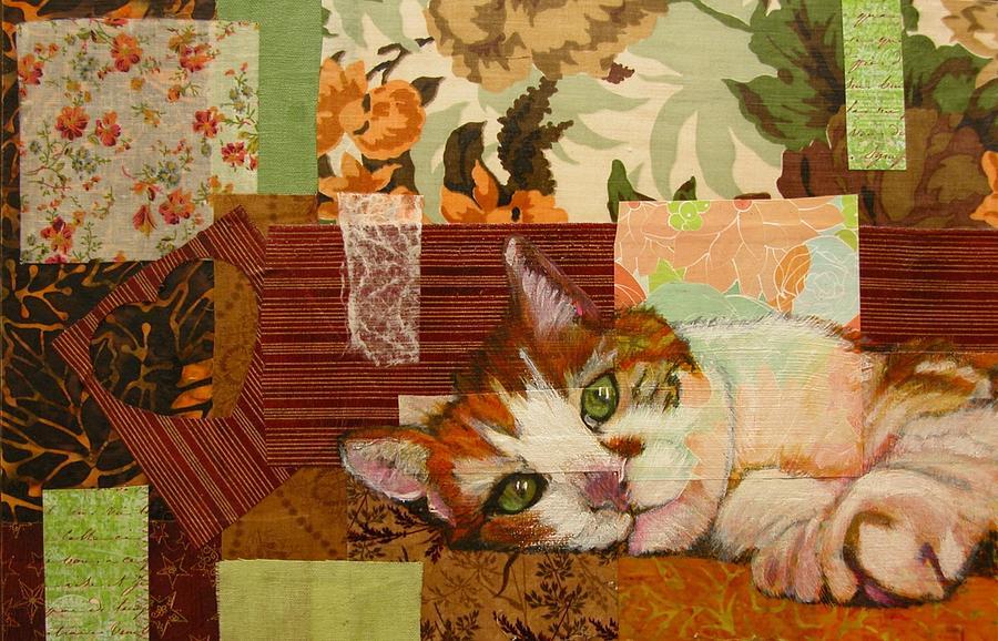 Cat Mixed Media - Star by Laura Gabel