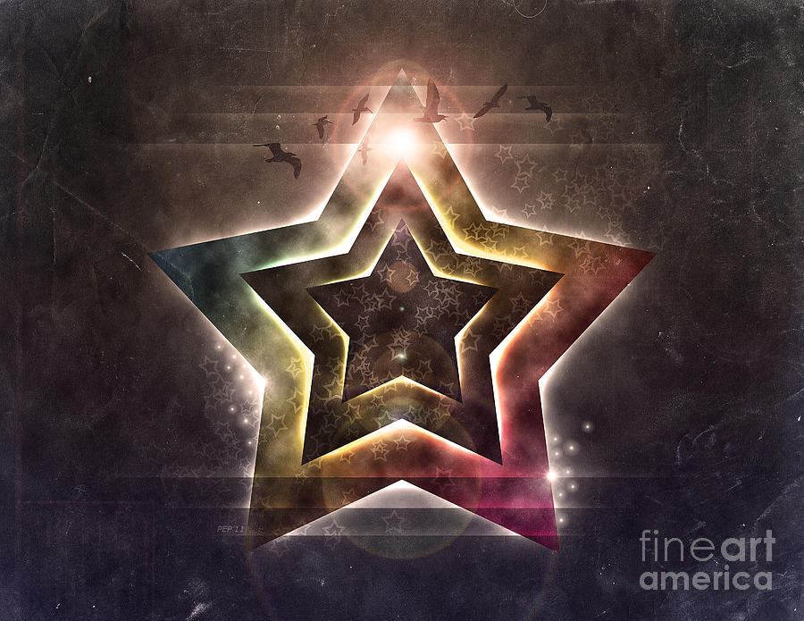 Star Digital Art - Star Lights by Phil Perkins