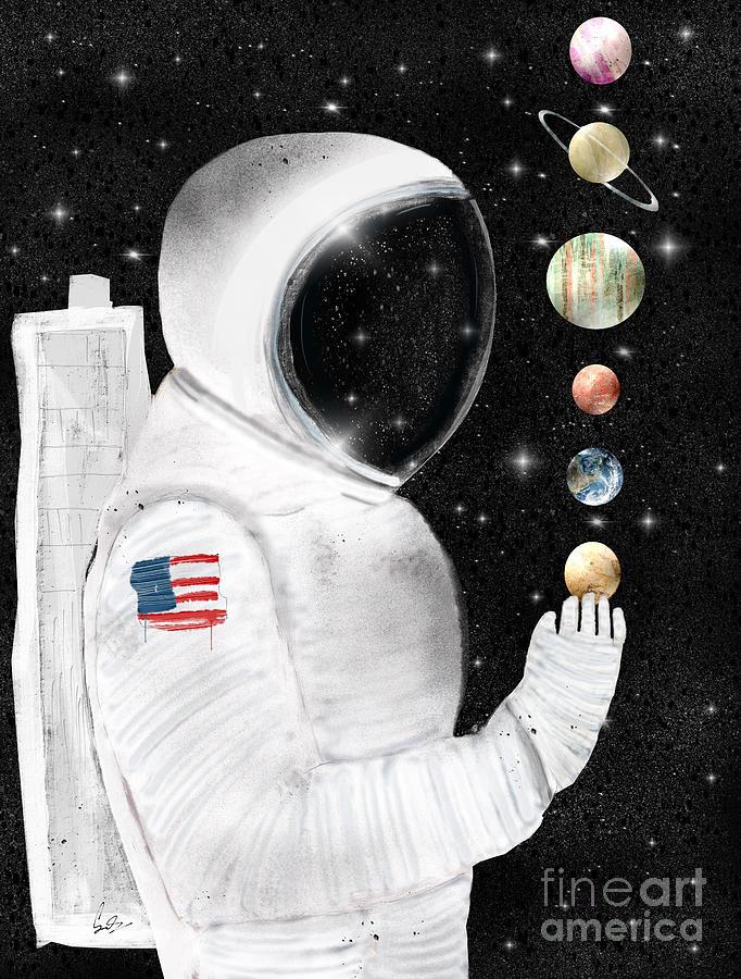 Space Painting - Star Man by Bri Buckley