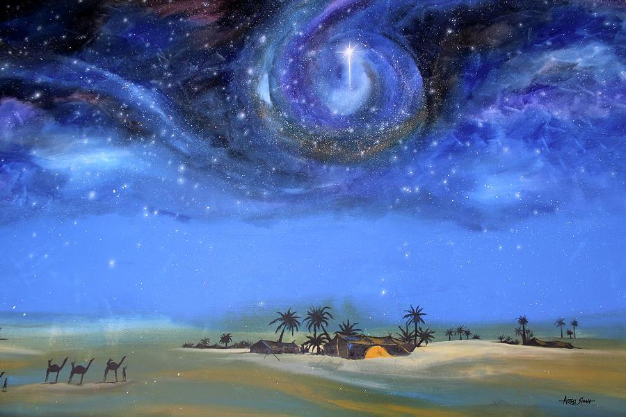 Star Of Bethlehem Painting By Artist Singh