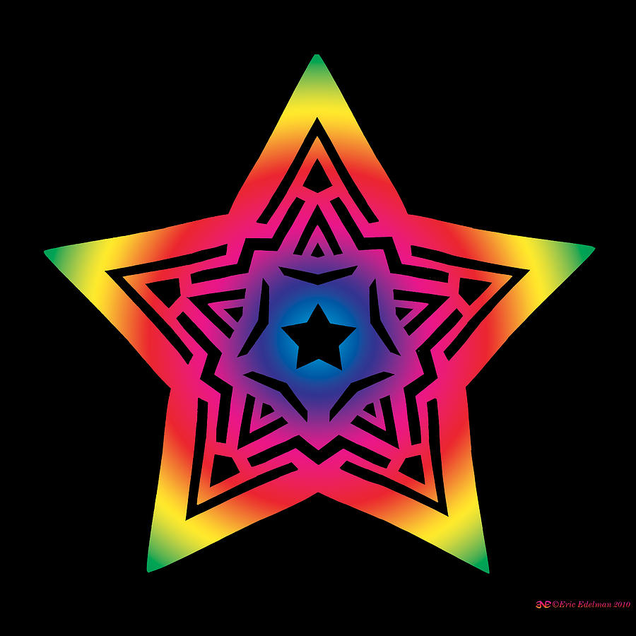 Pentagram Digital Art - Star Of Gratitude by Eric Edelman