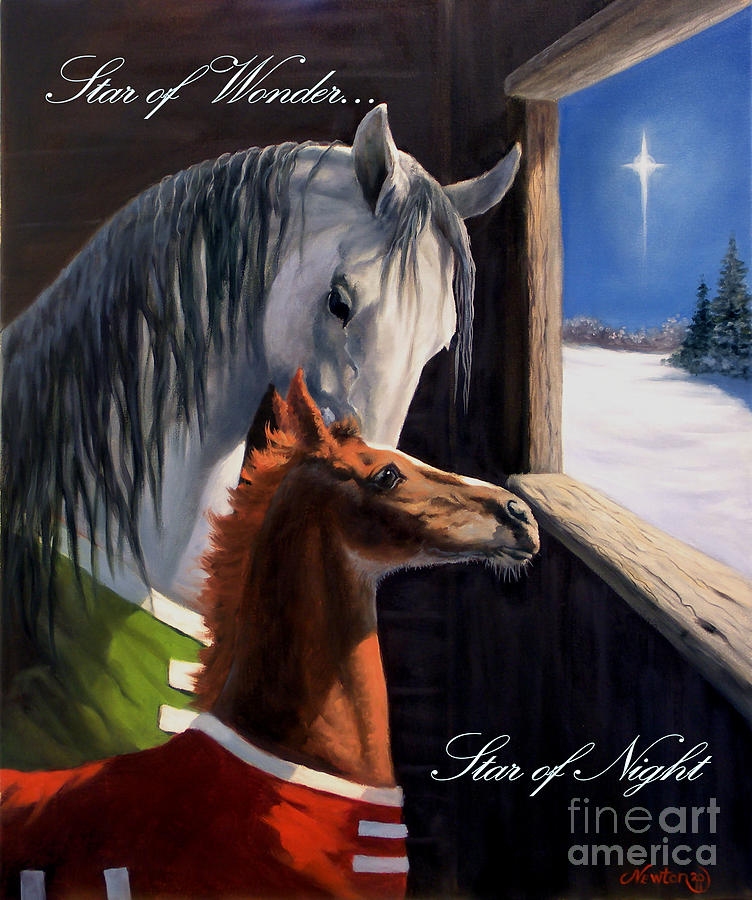 Greeting Cards Painting - Star Of Wonder by Jeanne Newton Schoborg