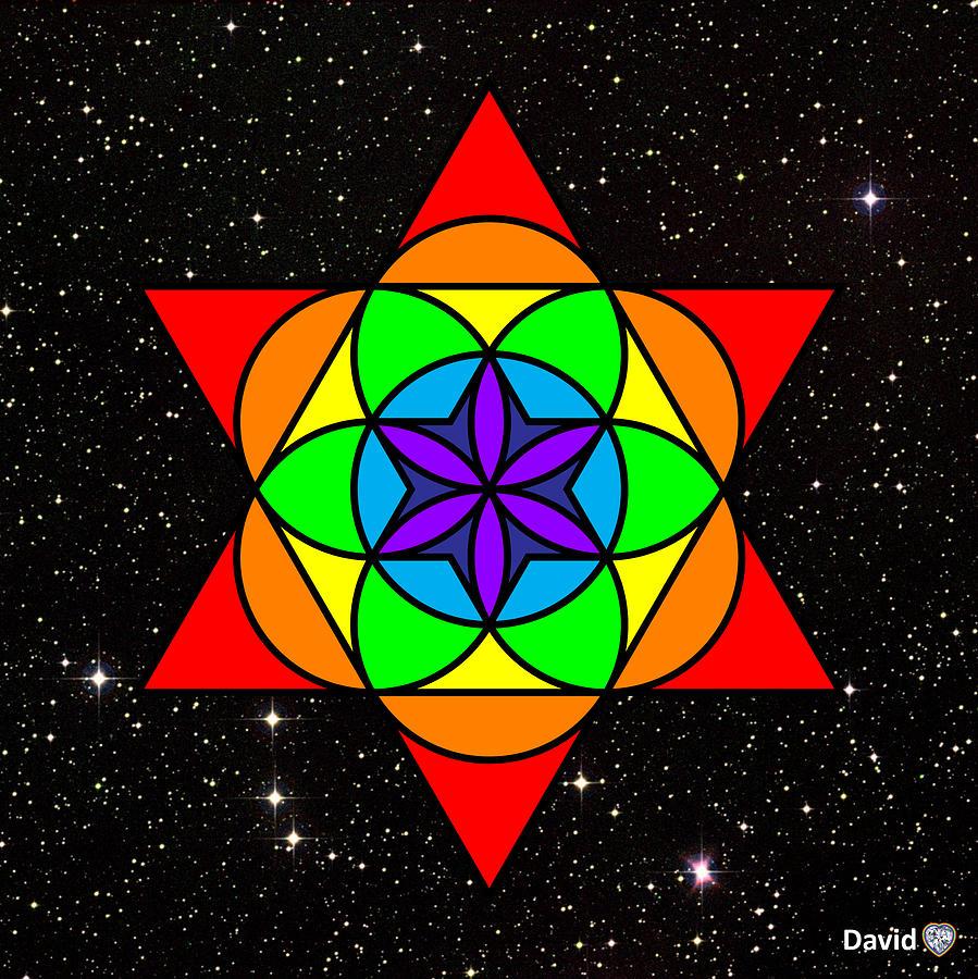 Star Of David Digital Art - Star Seed by David Diamondheart