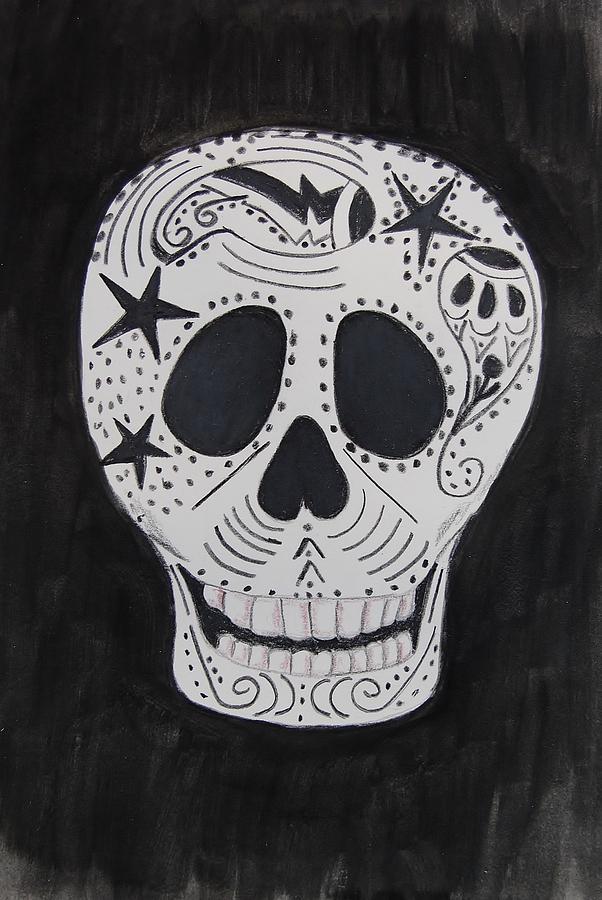 Skull Mixed Media - Star Skull by Charla Van Vlack