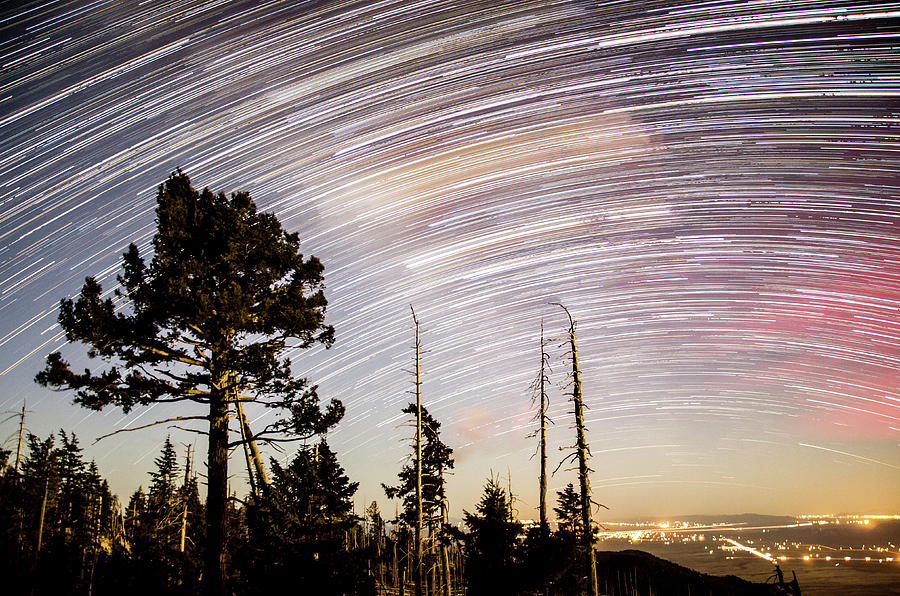 Star Trails at Fort Grant by Ryan Ketterer
