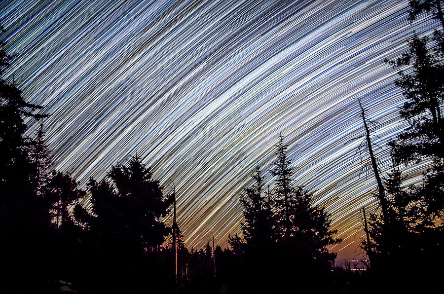 Starlight Photograph - Star Trails from Mt. Graham by Ryan Ketterer