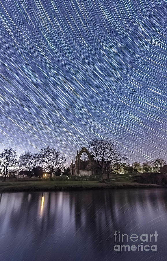 Star Trails In Bolton Abbey Photograph