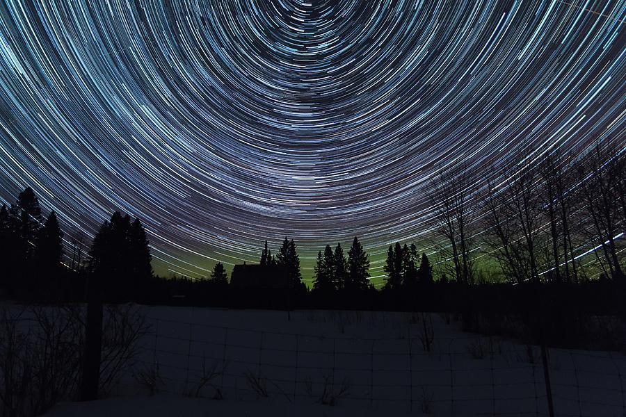 Star Trails Photograph - Star Trails by Linda Ryma