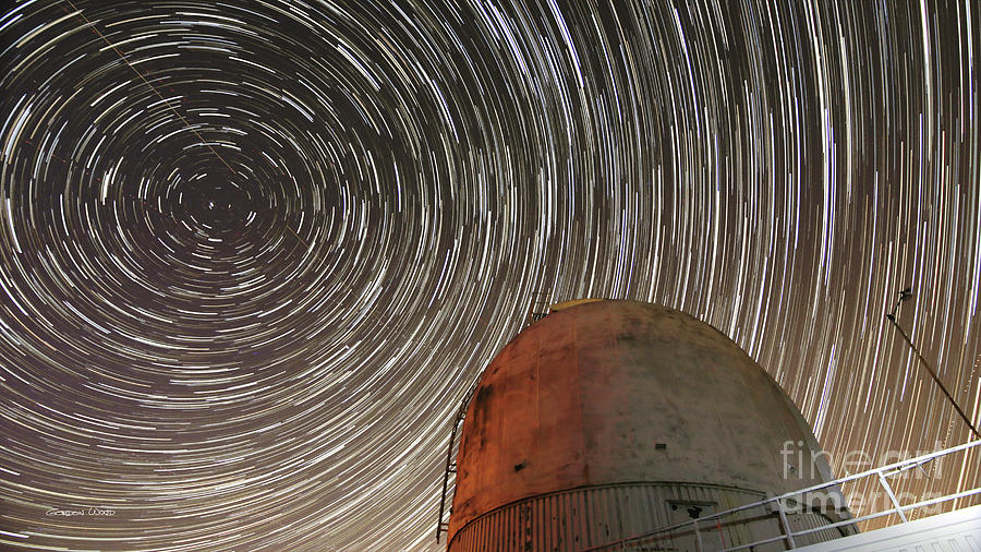 Star Trails over Observatory by Gordon Wood