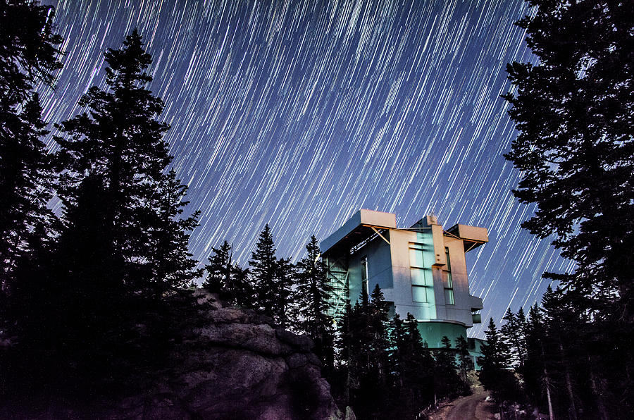 Star Trails over the Large Binocular Telescope by Ryan Ketterer