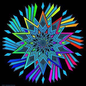 Mandala Digital Art - Star Twirl by Graham Conrad