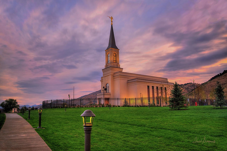 Star Valley Wyoming Temple Sunrise Photograph By David Simpson
