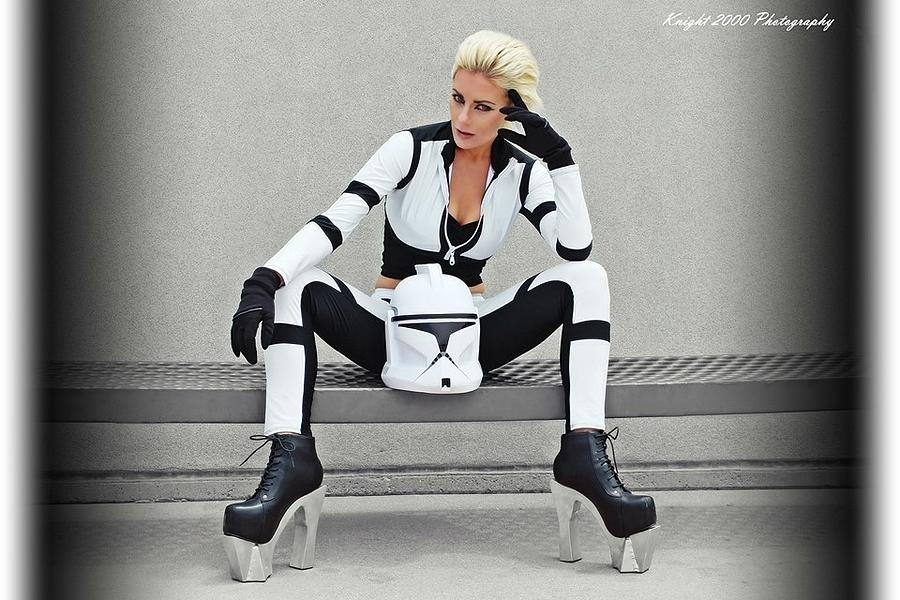 Star Wars Photograph - Star Wars by Knight 2000 Photography- Clone Trooper by Laura M Corbin