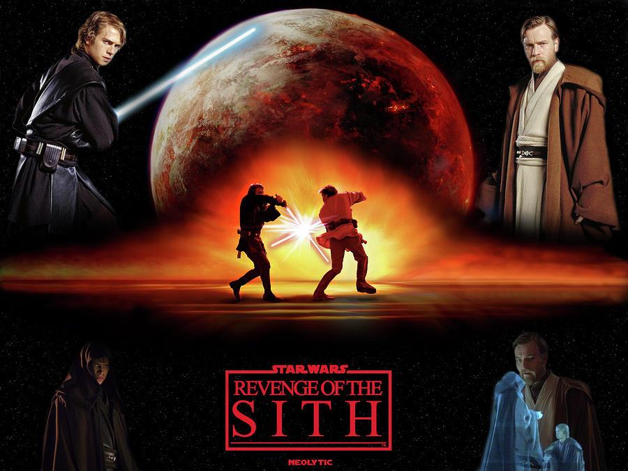 Planet Digital Art - Star Wars Episode III Revenge of the Sith by Maye Loeser