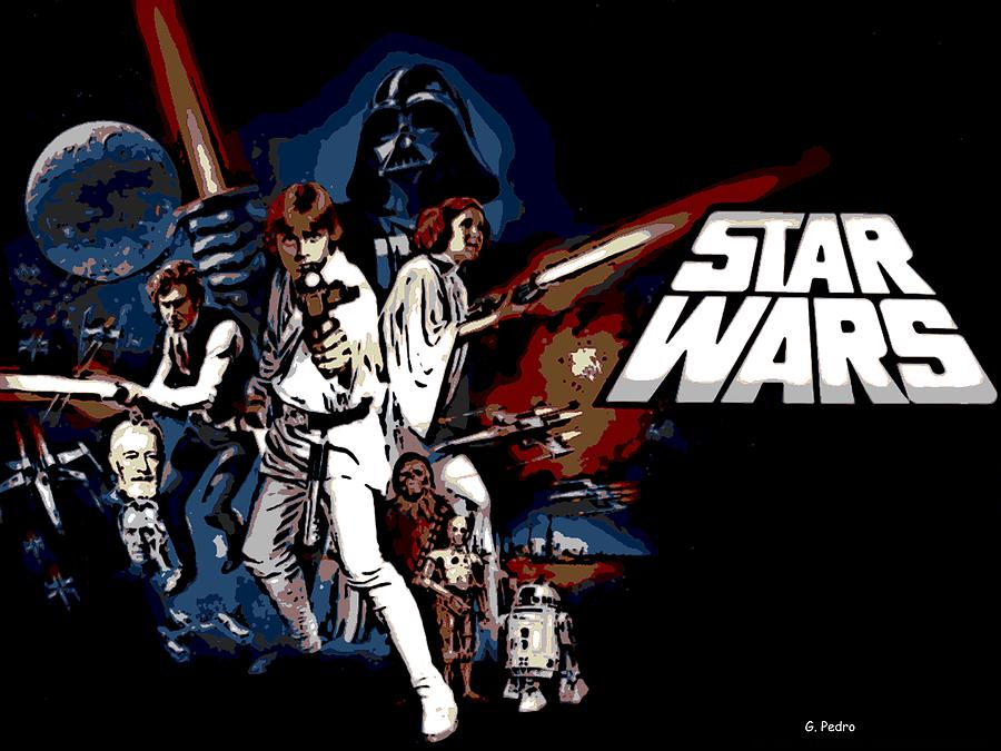 star wars movie poster photograph by george pedro