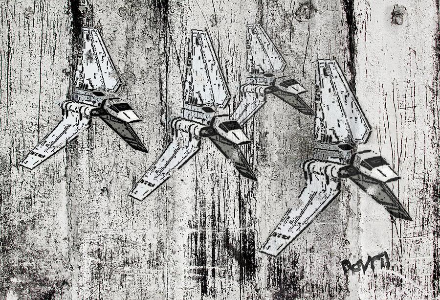 Concrete Digital Art - Star Wars Swarm  by Andy Walsh