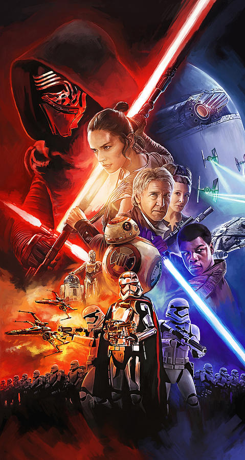 Star Wars Painting - Star Wars The Force Awakens Artwork by Sheraz A