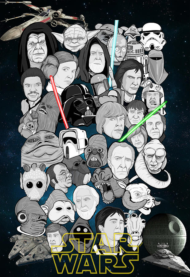 Star Painting - Star Wars Universe Collage by Gary Niles