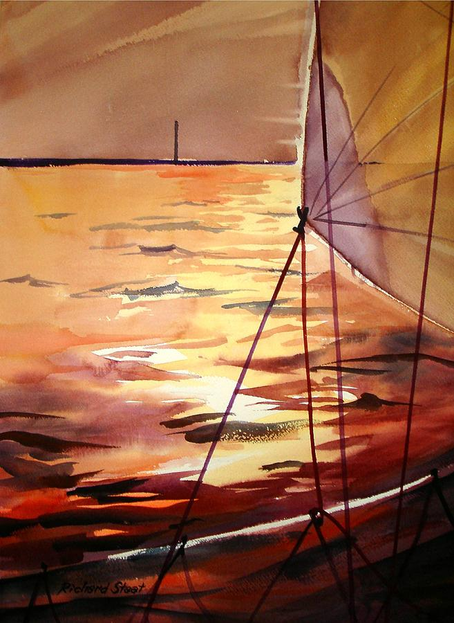 Seascape Painting - Starboard Tack by Richard Staat