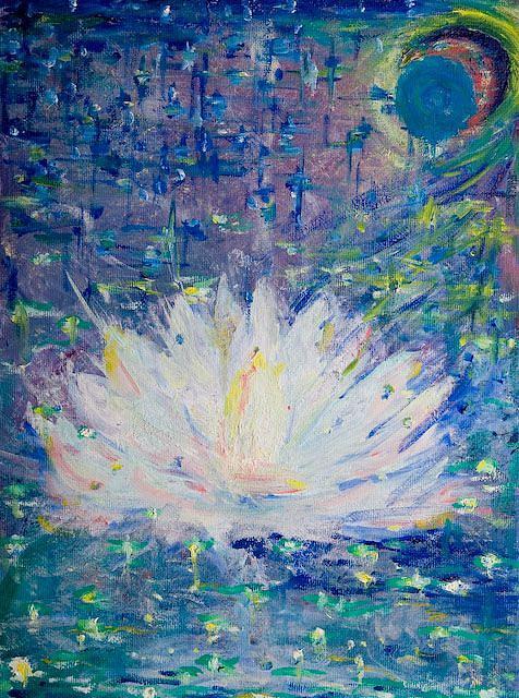 Stars Painting - Starborn 2006 by Elena Soldatkina